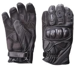 tysk pono sort læder handsker dame